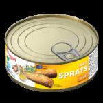 Sprats fried in oil 240g